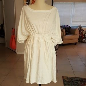New Free People Beach Cover-up White  M/L